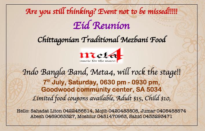 Eid Reunion & Mezbaan || Adelaide