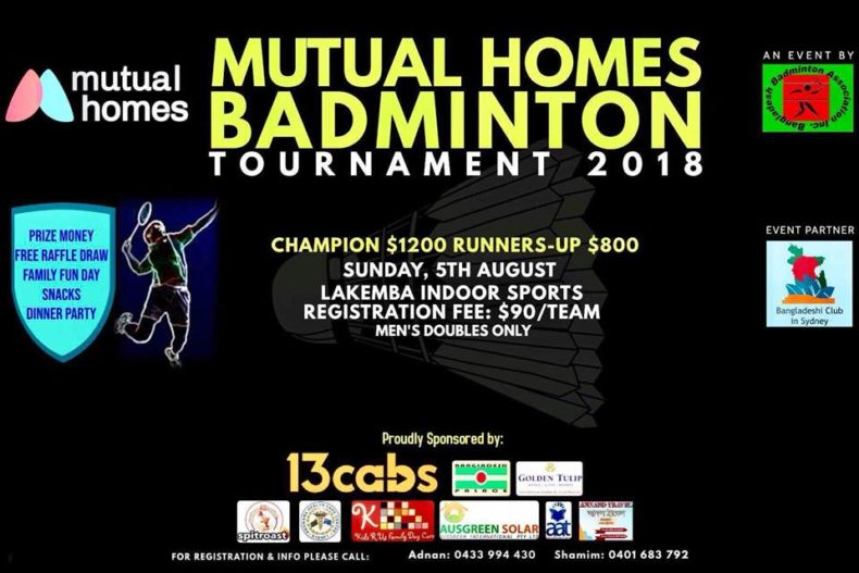 Badminton Tournament 2018 || Sydney