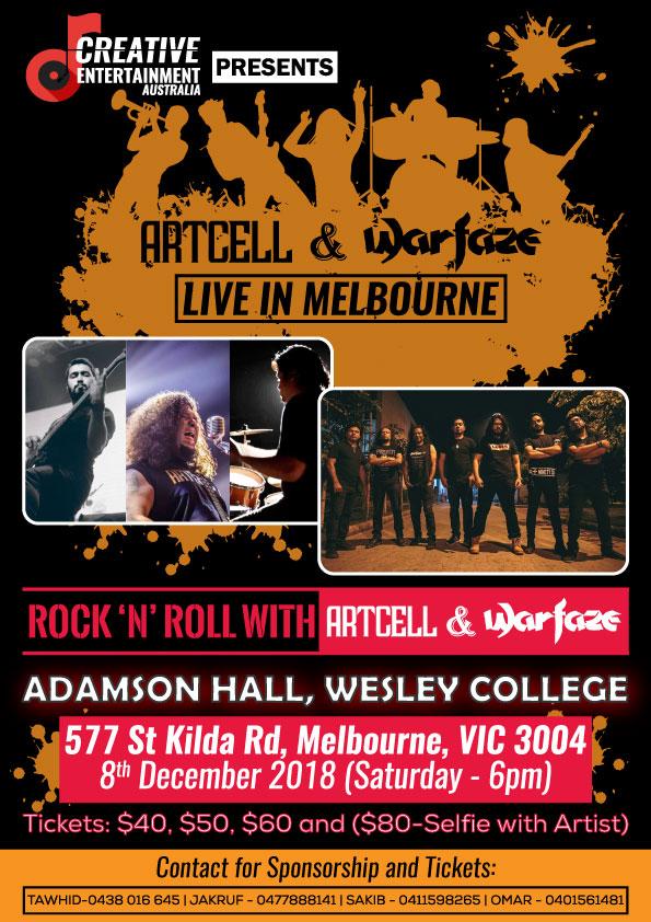 Warfaze & Artcell Live 2018 || Melbourne